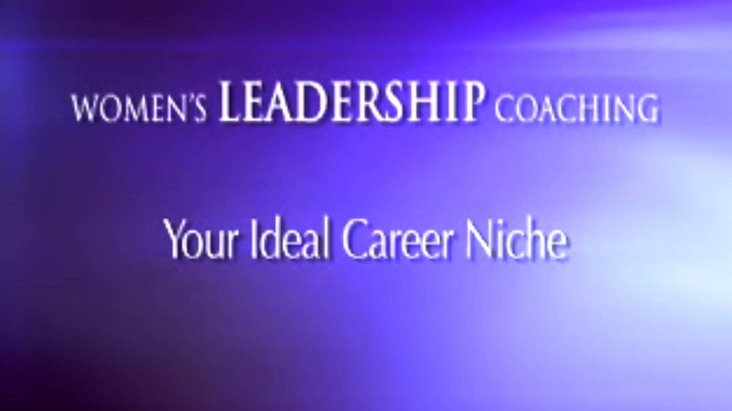 Your Ideal Career Niche